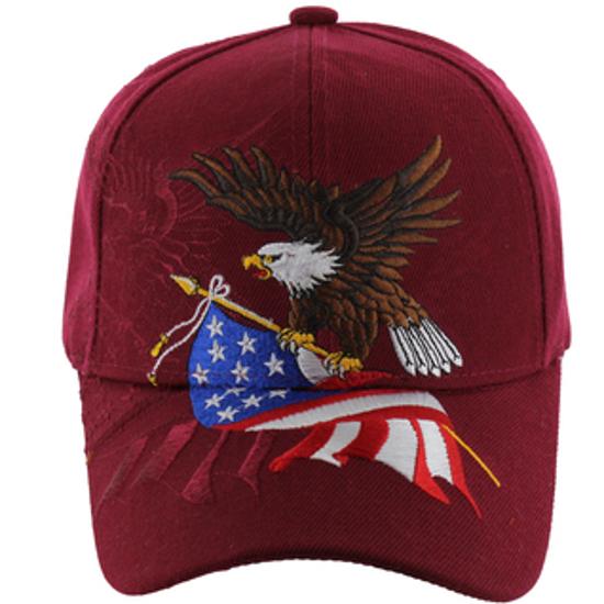 Imagine SAPCA UNITED STATES EAGLE AND FLAG BURGUNDY