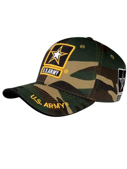 Imagine Sapca ARMY LOGO LICENSED EMBROIDERED MILITARY CAP CAMO A03ARM01-US