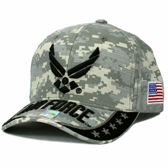 Imagine DELUXE AIR FORCE OFFICIAL LICENSE CAP CAMO GREY