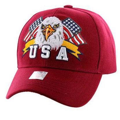 Imagine SAPCA AMERICAN USA EAGLE & FLAG BURGUNDY CODE 311