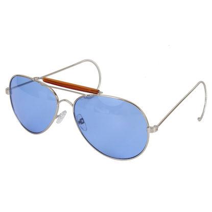 Imagine OCHELARI DE SOARE Aviator Air Force Style Sunglasses Blue