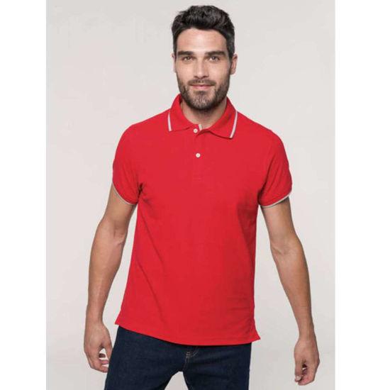 Imagine TRICOU POLO PIQUE ROSU
