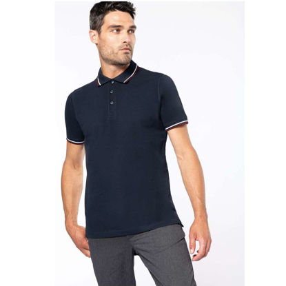 Imagine TRICOU POLO PIQUE 100% BUMBAC NEGRU