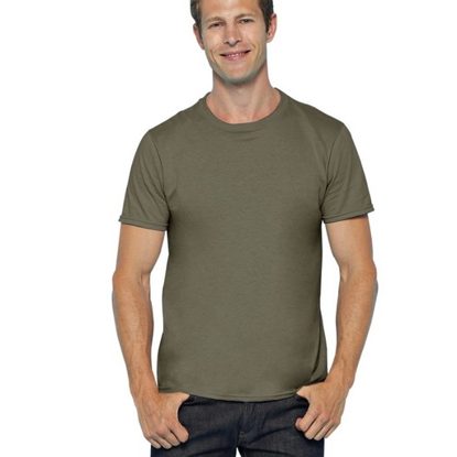 Imagine TRICOU MILITARY GREEN 100% BUMBAC MARIMI PANA LA 4XL