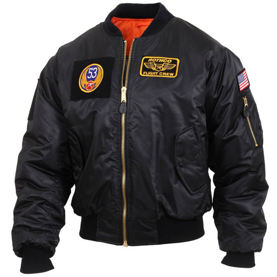 Imagine Geaca PILOT FLIGHT JACKET MA-1 BLACK marimi pana la 3XL