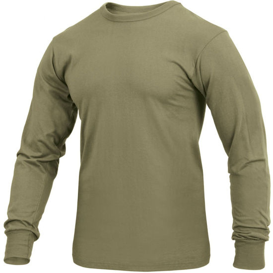 Imagine Tricou cu Maneca Lunga Solid Coyote Brown