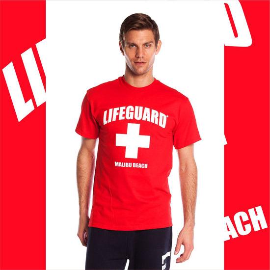 Imagine TRICOU Malibu Beach Tshirt Lifeguard Official License
