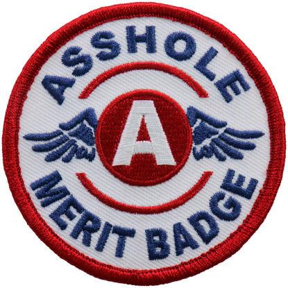 Imagine Emblema Asshole Merit Badge Patch 8cm/8cm