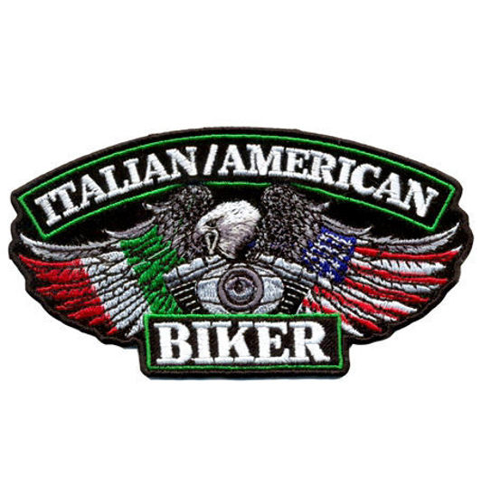 Imagine Emblema Italian American Biker Patch 13cm/7cm