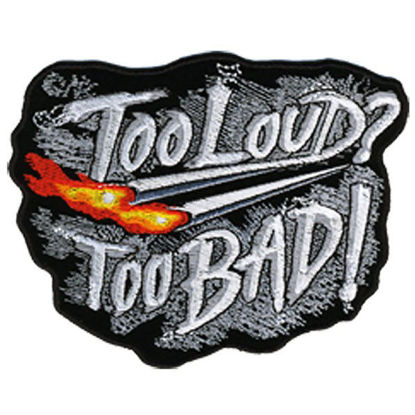 Imagine Emblema Too Loud Too Bad Patch 12cm/10cm