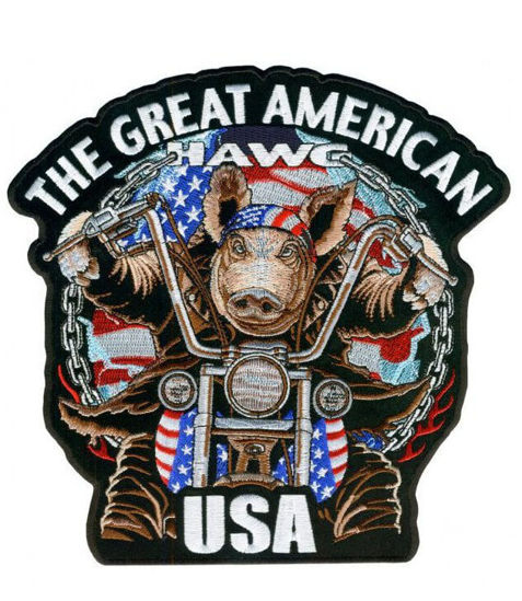 Imagine Emblema Great American Hawg Patch 10cm/10cm