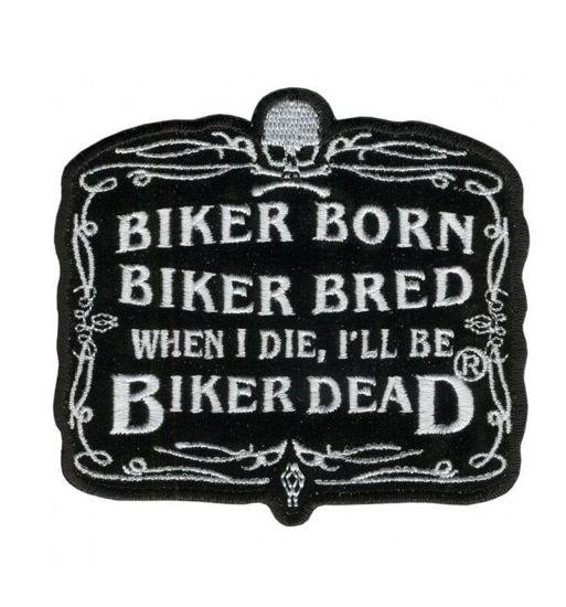 Imagine Emblema Biker Born Patch 10cm/8cm
