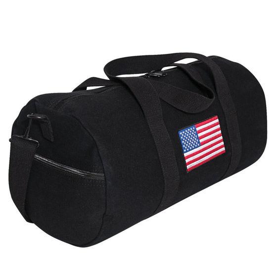 Imagine Geanta U.S. Flag Canvas Shoulder Duffle Bag