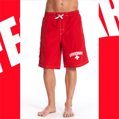 Imagine Pantaloni scurti Mens Swim Board Shorts Lifeguard Official License